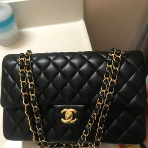 CHANEL Bags - 2017 Chanel Double Flap Classic Bag black Medium